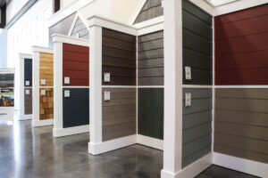 Siding display at GSL Concord Showroom