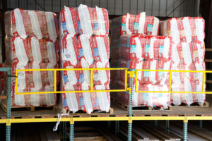 Pallets of insulation at GSL San Rafael lumberyard