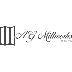 AG Millworks logo in gray