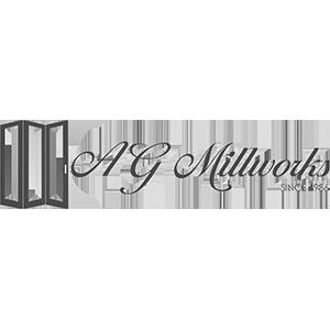 AG Millworks logo in gray