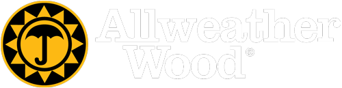 Allweather Wood logo in white