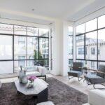Euroline steel windows in open living space