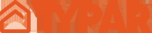 TYPAR logo in orange