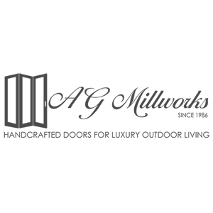 AG Millworks logo in gray square crop