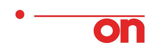 Fiberon logo with white text