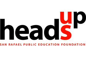 HeadsUp logo with black text