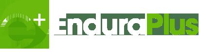 EnduraPlus logo horizontal with white type
