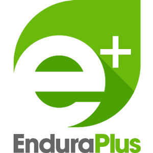 EnduraPlus logo stacked square with gray type