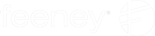 Feeney horizontal logo in white